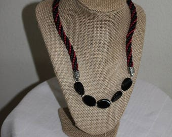 Beautiful burgandy Black Necklace