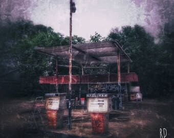 11x14 Abandoned Gas Station Poster