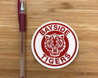 Saved by the Bell Vinyl Sticker, Bayside High, Zack Morris, Kelly Kapowski, Saved by the Bell Gift, 90s TV shows, Cute Vinyl Decal Stickers