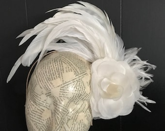 White fascinator Jezebel