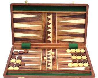 """Backgammon set,Solid wooden board game set 16"""""""