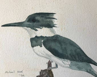 KINGFISHER watercolor
