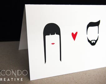 Personalised wedding and engagement cards