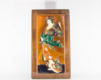 Japanese antique copper engraving
