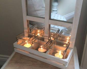 Mirrored tealight or flower holder