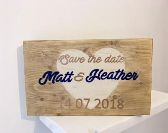 Engagement announcement, Wedding announcement, save the date, Personalised.