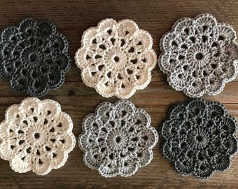 Crochet coasters (set of 6)
