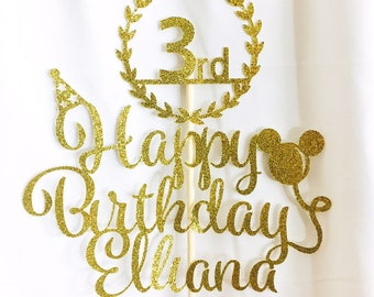 Customized Age and Name Birthday Topper