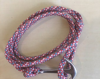 Anchor marine steel stainless cord bracelet red blue white Paracord Bracelet unisex Bracelet Collection nautical jewelry 2017