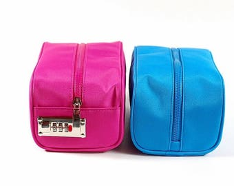 Lockable make up bags