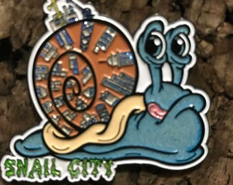 Snail City snails inspired hat pin