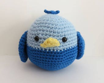 Bird blue crochet