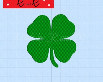 "Small Shamrock Embroidery Design 2"" by 2.25"" 