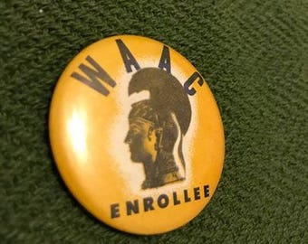 Original WWII WAAC Women's Army Auxiliary Corps Pin