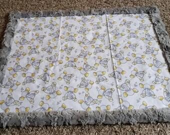 Little Yellow Elephant Baby Blanket