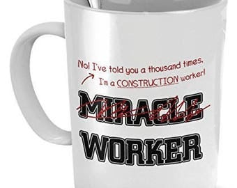 Construction Worker Gifts, Construction Worker Mug, Construction Worker Coffee Mug, Gift for Construction Worker, Construction Items