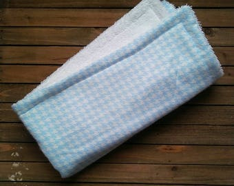 Blue and White Burpie | Burp Cloth | Baby Blanket | One Piece | About 20in × 20in