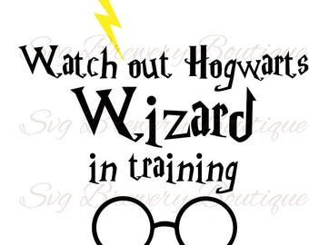 Harry potter, wizard SVG (layered), PNG, DXF, cricut, silhouette studio, cut file, vinyl decal, t shirt design, scrapbooking