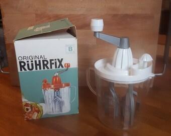 Ruhrfix hand mixer. Whipped cream beater. Orange press