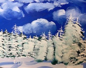 Blue Winter Day