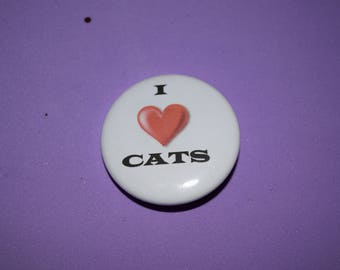 I love cats 1.5 button