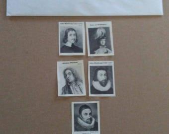 Vintage black & white photos of historical people