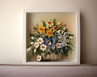 Bouquet of Daffodils and Lilies of the Valley