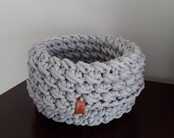 Crocheted basket handmade