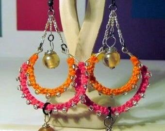 Macreme earrings