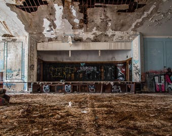 Decaying Auditorium in an old middle school