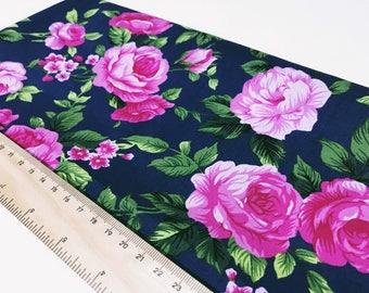 Vivien - Navy - 100% lightweight cotton fabric