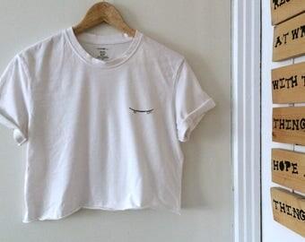 White crop top - Sk8ter boi t-shirt sweater