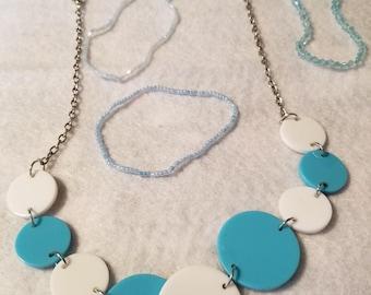 Necklace & 4 bracelets