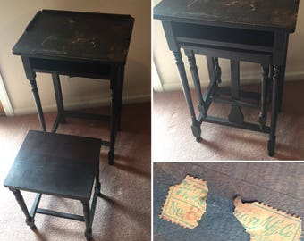 H.T. Cushman Mfg. Co. Antique Telephone Table