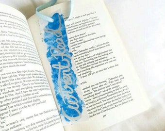 Watercolour 'Current Read' Bookmark