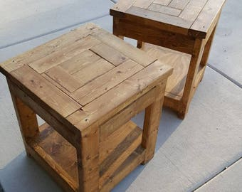 Custom Rustic Wood End Tables/Night stands