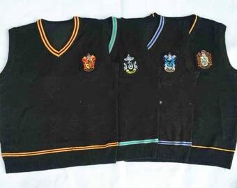 Hufflepuff / Ravenclaw / Slytherin / Gryffindor Harry Potter Vest Sweater Costumes