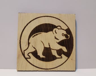 Chicago Cubs, Laser engravement, wall decor, magnet, gift,
