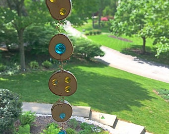 Suncatcher/garden art-Blue/Yellow