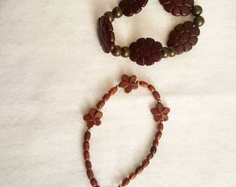 Handmade wood bracelets from Hawaii