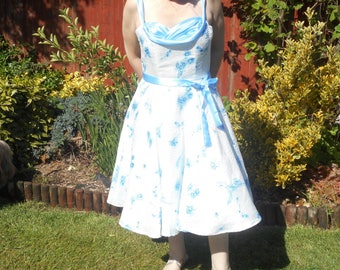 Handmade reproduction 1950's swing dress