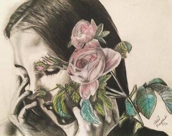 Charcoal portrait-Mind Garden