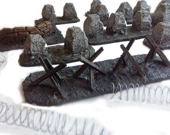 Battlefield Barricades [Urban] Set - Wargaming Scenery & Terrain - 28mm - Warhammer 40k