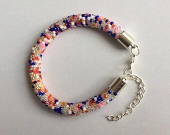 Bracelet crochet-coral