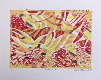 Redux VI, Linocut Print