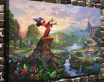 Fantasia, Thomas Kinkade Framed Canvas Wall Art