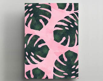 Canvas Wall Art, Gallery Wrapped, Interior Decoration, Modern Art  - 'Pastel Forest'.
