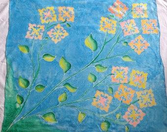 scarf silkpainting silkpainted scarves handmade silk batik