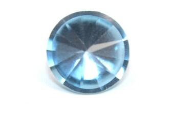 Sky Blue Topaz AAA Natural Gemstone Round Fancy Flat Top Cut 3.ct 10mm