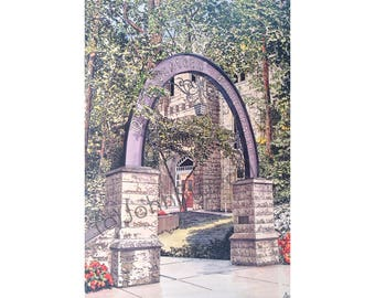 Northwestern University Limited Edition Pen and Ink and Watercolor Art Print Illustration, Graduation Gift, College, Evanston, Illinois